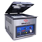 "UltraSource 903227 Commercial 225 Vacuum Chamber Machine with Gas Flush for Food Sealing, Chamber Size 19.5"" Length by 16.75"" Width by 7.25"" Depth, Stainless Steel"