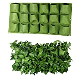 S&F Wall Planter Holder 18 Pockets Wall Hanging Planter Garden Grow Bags (6X3)