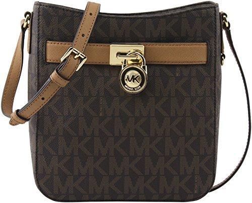 162204909aa6 Galleon - MICHAEL Michael Kors Women's Brown Acorn Signature PVC Hamilton Large  Crossbody Bag, Style 35H6GHXC3B