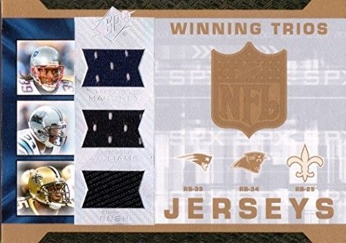 Upper Deck REGGIE BUSH DEANGELO WILLIAMS MARONEY 2007 SPx Winning Trios Jersey Card #LDR