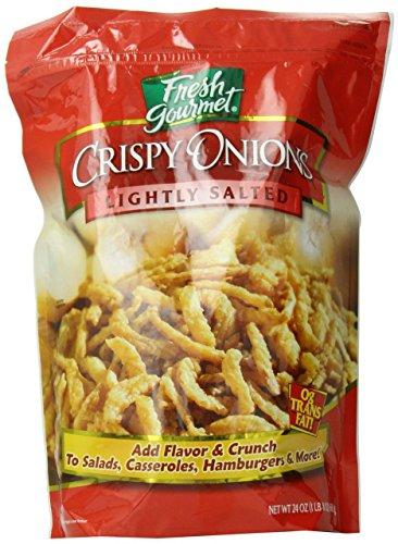 Fresh Gourmet Crispy Onions Lightly Salted 24 oz. (Pack of 2)