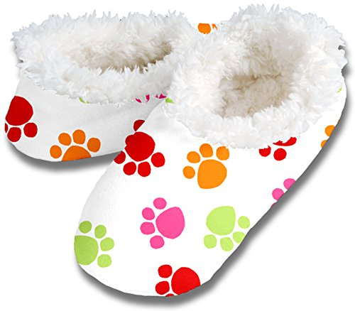 Womens Dog Paw No Skid Slipper Sock Footwear by Snoozies