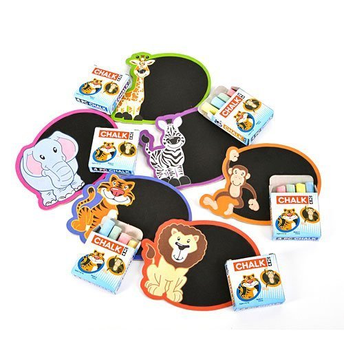 Zoo Safari Mini Chalkboard Magnet Sets ~ New ~ (12 Pack) ()