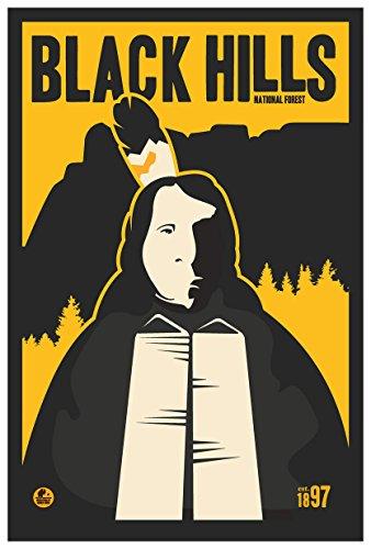 Black Hills National Forest, South Dakota Travel Art Print Poster by Matt Brass (12