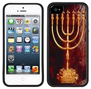Hannukah Menorah Handmade iPhone 5 Black Bumper Plastic Case