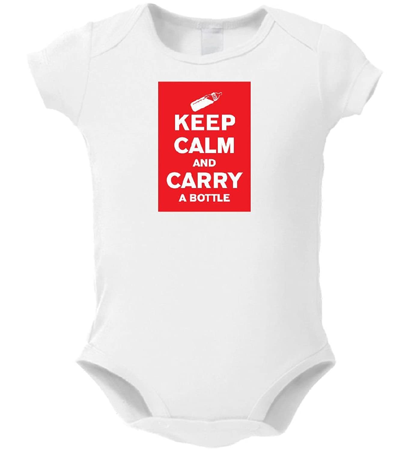 Dustin clothing series Keep Calm and Carry A Bottle Baby Boys Girls Toddlers Funny Romper 0-24M