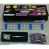 Loom Bands Kit, Includes Loom, Hook, 600 Mixed Color Bands + 25 S Clips / Includes Easy to Follow Instructions