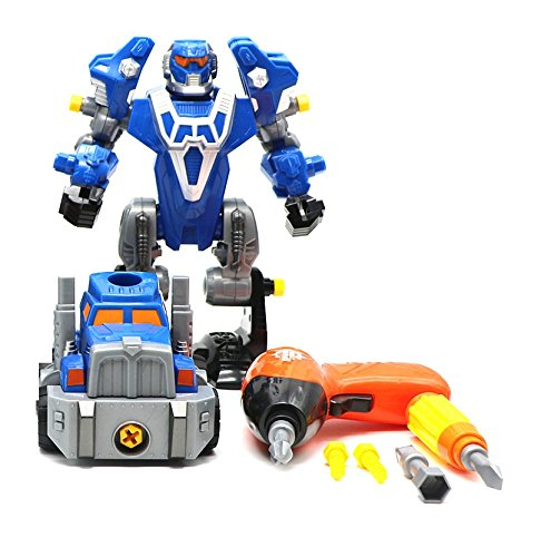 Ver-Baby Robot for Kids Childrens robot, Toy Car & Cordless Drill Tools for Kids Take-A-Part Game Assemble with Drill and Toy Tools