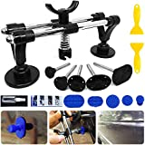 Manelord Auto Body Repair Tool, Car Dent Puller with Double Pole Bridge Dent Puller, Glue Puller Tabs, Glue Shovel for Auto Dent Removal,Minor dents, Door Dings and Hail Damage