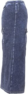 product image for Hard Tail Forever Womens Long Jean Cargo Pencil Skirt Style WJ-118