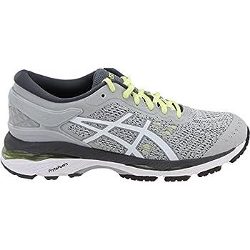 Asics Womens Gel-kayano 24 Glacier Greywhitecarbon Running Shoe - 10 1