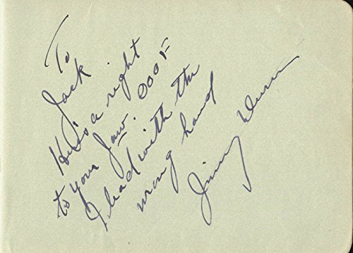 James Dunn – Autograph Note Signed