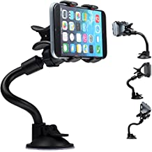 """Gwogo® 9.84"""" Car Windshield Mount Stand Holder-Compatible with All Smartphones, including IPhone 4, 4S, 5, 5S, 5C 6,6S- Samsung Galaxy S3, S4, S5 - Galaxy Note 2, 3 - LG, G2 - Motorola Moto X Droid HTC One, Nexus 6"""