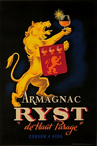 (Armagnac Ryst Vintage Poster France c. 1927 (36x54 Giclee Gallery Print, Wall Decor Travel Poster))