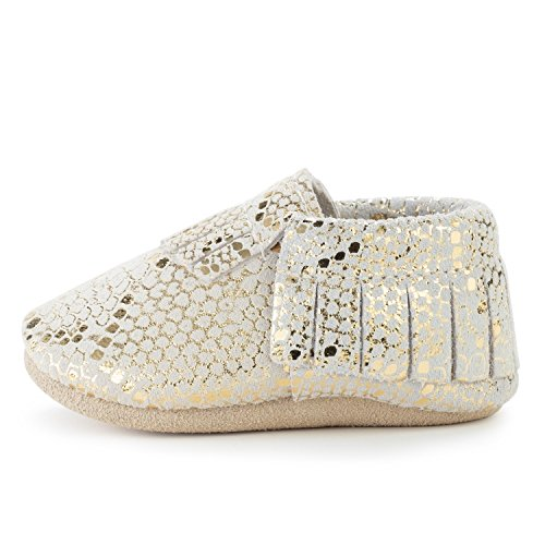 - BirdRock Baby Moccasins - 30+ Styles for Boys & Girls! Every Pair Feeds a Child (US 9.5, Rattlesnake)