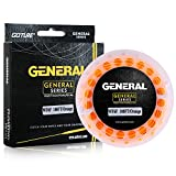 Goture Fishing Fly Line Floating Weight Forward Taper with Welded Loops for Beginner General Series 6 Sizes for WF3F WF4F WF5F WF6F WF7F WF8F 4 Colors for Ivory Olive Orange Gold (Orange, WF5F)