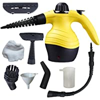 Stonn Handheld Steam Cleaner | Multipurpose Steamer With High Pressure, No Chemical Needed | For Cleaning And Disinfecting Your Home, Windows, Toilets Germ Killer & More Yellow
