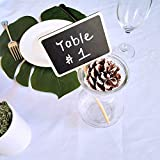 Supla 20 Pcs Mini Chalkboard Tabletop Signs with
