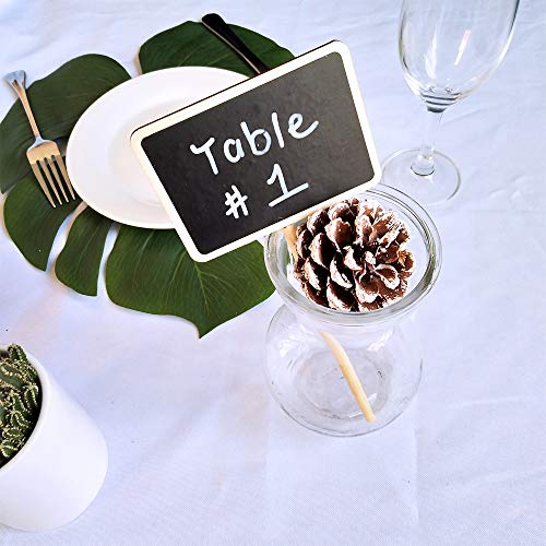 Supla 20 Pcs Mini Chalkboard Tabletop Signs with Stand Place Holders Party Wedding Message Memo Note Board Buffet Table Number Name Plant Signs Candy Bar Food Dessert Markers Table Setting Signs by Supla (Image #6)