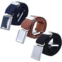 Boy Kids Magnetic Buckle Belt - Adjustable Elastic Children's Belts for Girls, 3 Pieces