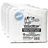 ValueWrap Male Wraps for Dogs, Single-Tab Medium, 48 Count