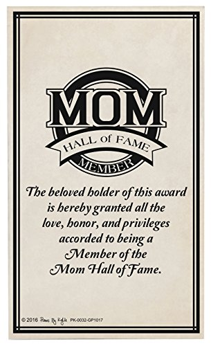 Plaque Mother Glass (Mom Gifts for Christmas Mom Hall of Fame Award Mom Decorative Poetry Award Gift Plaque Glass Plaque)