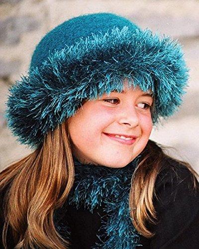 Fiber Trends Girl Talk Felted Hat Knitting Pattern CH-40 (Hats Felted Knitting)