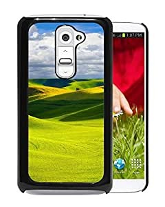 New Beautiful Custom Designed Cover Case For LG G2 With Green Hills Phone Case