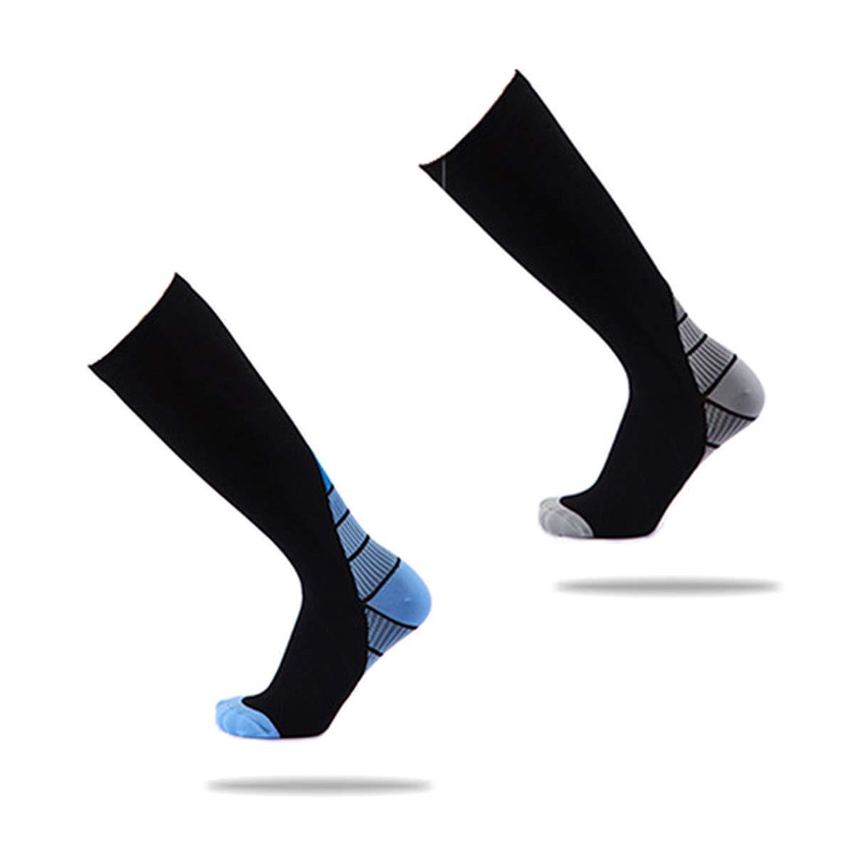 Geeignet f/ür Laufen Fu/ßball und Andere Sportarten Meowoo Kompressionsstr/ümpfe Compression Socks Bequem Atmungsaktiv und Hohe Elastizit/ät