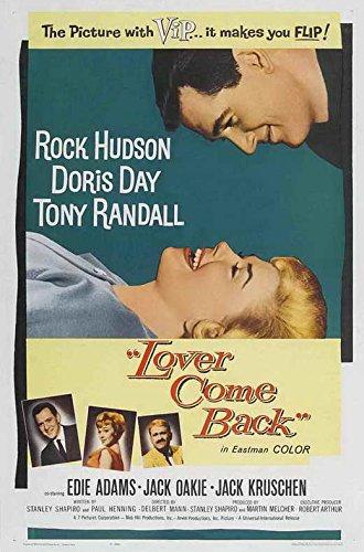 (Lover Come Back POSTER Movie (1962) Style A 27 x 40 Inches - 69cm x 102cm (Rock Hudson)(Doris Day)(Tony Randall)(Edie Adams)(Joe Flynn)(Ann B. Davis)(Jack Oakie))