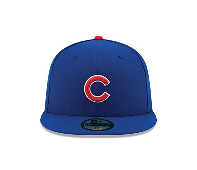 buy popular 774e8 9cc6b Amazon.com   New Era 59FIFTY Chicago Cubs Authentic 2017 Youth Collection  On-Field Game Cap   Sports   Outdoors