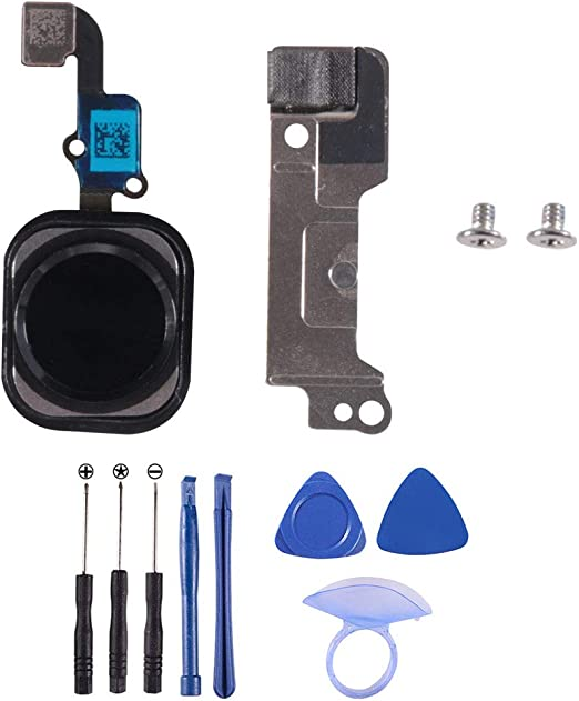 Black YWL-US Home Button Replacement Compatible with iPhone 6//6 Plus Homebutton Main Key Flex Cable Replacement