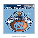 WinCraft North Carolina Tar Heels Official NCAA 4.5'' x 6'' Championship Basketball Champs 2017 Automotive Car Decal 4.5x6 by 372093