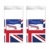"Beistle 54747 2Piece Union Jack Tablecovers, 54"" x 108"", Red/White/Blue"