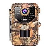 Sesern Trail Camera Wildlife Hunting Camera 16MP 1080P, Game Camera with Glow Night Vision Up to 65ft, 0.2s Trigger Time Motion Activated, 2.4″ Color Screen and Unique Keypad, Waterproof