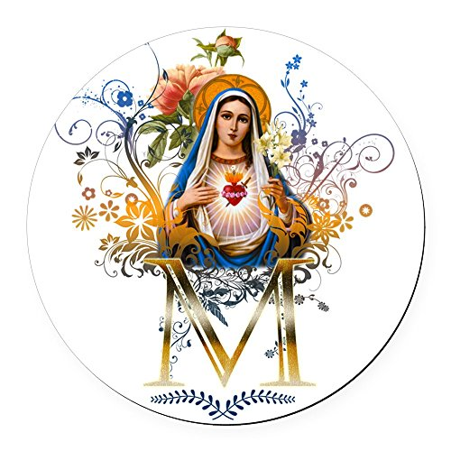 (CafePress - Immaculate Heart of Mary - Round Car Magnet, Magnetic Bumper Sticker)