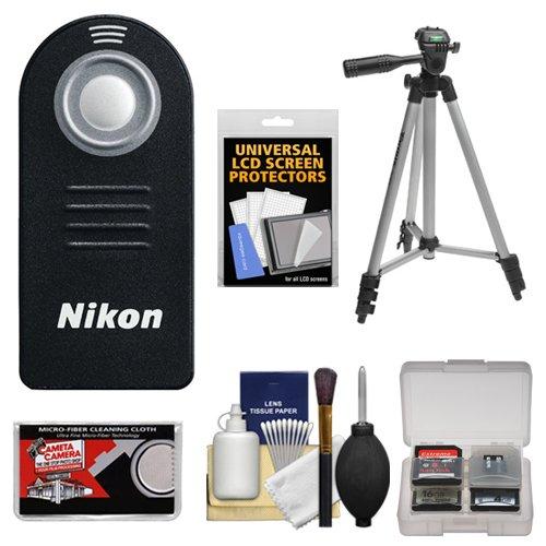 Nikon ML-L3 Wireless Shutter Release Remote Control + Tripod + Cleaning Kit for Nikon 1 V2, V3, J3, J4, J5 Interchangeable Lens Digital Cameras (Nikon 1 Nikkor 30 110mm F 3-8 5-6)