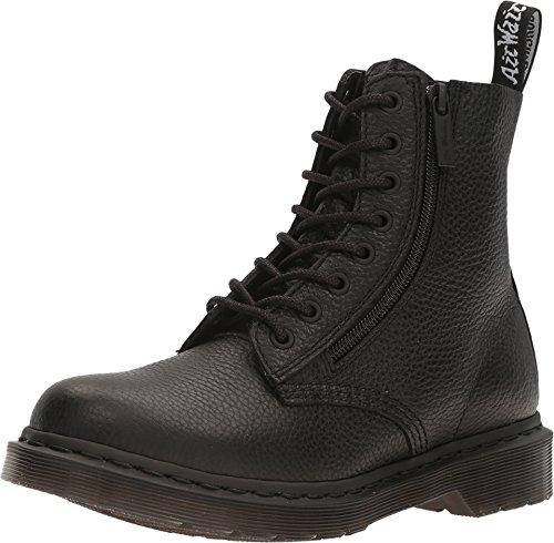 Dr. Martens Women's Pascal W/Zip Combat Boot, Black, 5 UK/7 M US]()