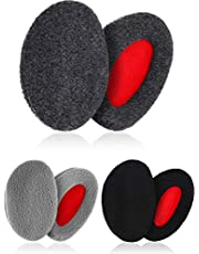 3 Pairs Bandless Ear Muffs Soft Winter Ear Warmers for Cold Weather Men Women