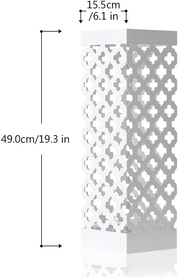 Portaombrelli con Ganci e Telaio Soggiorno Bastone da Passeggio e Bastone Ufficio Decorazione per corridoio Bianco NEX Pratico Supporto in Metallo Robusto per ombrelli Lunghi e Corti