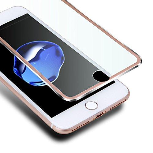 輸血首謀者仮定iPhone8 plus / iPhone7 Plus フィルム 3D 全面 iphone 8 plus ガラスフィルム VIUME iphone 7 plus 保護フィルム アイフォン8プラスフ 強化ガラスフィルム 曲面デザイン 3Dラウンドエッジ加工 光沢 耐衝撃 アイフォン7 プラス 5.5インチ用(ローズゴールド)