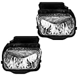 Fog Lights Lamps Driver and Passenger Replacements for 04-06 Chevrolet Silverado Pickup Truck 15791433 15791434