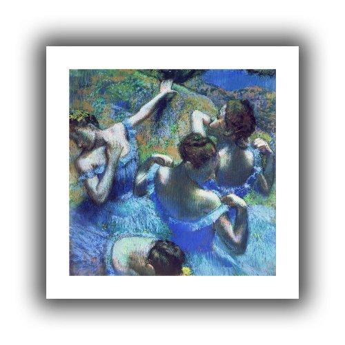 ArtWall 'Blue Dancers' Unwrapped Flat Canvas Artwork by Edgar Degas, 18 by 18-Inch