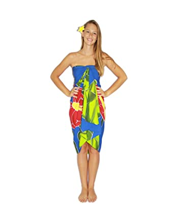625273f2f6 Pareo Island Women's Tropical Flower Sarong at Amazon Women's ...