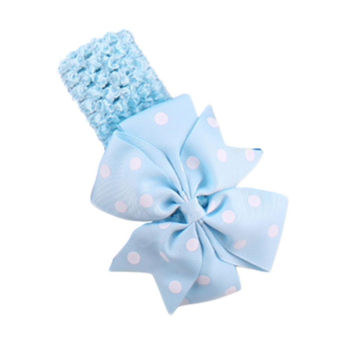 K-youth diademas bebe ni/ña diademas bebe recien nacidos Punto de ola bowknot banda para el pelo elasticas cintas de pelo bebe ni/ña bautizo cinta para beb/é para 0 meses a 4 a/ños