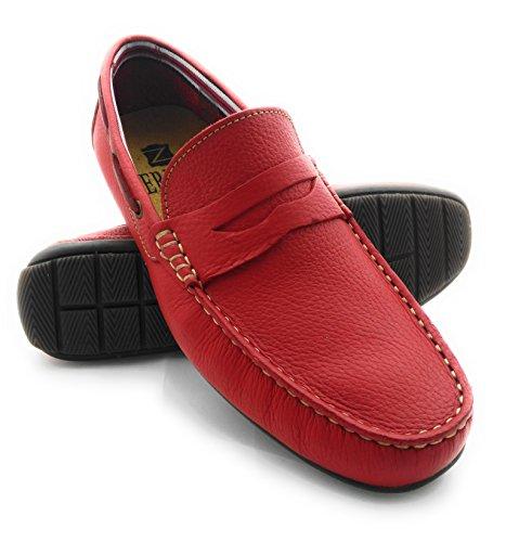 Leder Schuh Mann mit Herren Gebrauch Halbschuhe Herren Den Lederfutter Rot 100 Herren Schuh Schöne für Zerimar Leder Sportlich Schuhe Täglicher Casual Leder Leder YTw8n