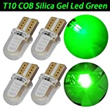 TABEN T10 194 501 W5W 20SMD Silica COB Green LED High Power Car Auto T10 Wedge Interior Clearance Light Parking License Plate Bulb Lamp DC 12V (Pack of 4)