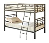 Cheap Fairfax Twin Bunk Bed with Ladder Light Gunmetal