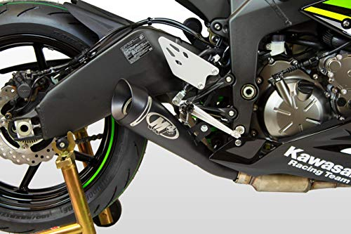 09-12 KAWASAKI ZX6R and 13-15 KAWASAKI ZX636: M4 GP Series Slip-On Exhaust - Black (BLACK)