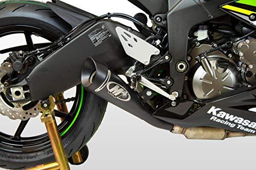 (09-12 KAWASAKI ZX6R and 13-15 KAWASAKI ZX636: M4 GP Series Slip-On Exhaust - Black (BLACK))